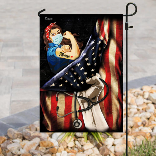 proud our nurse american flag all over print flag 3