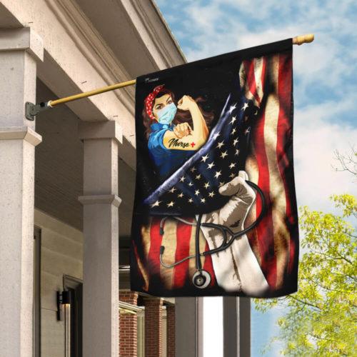 proud our nurse american flag all over print flag 4