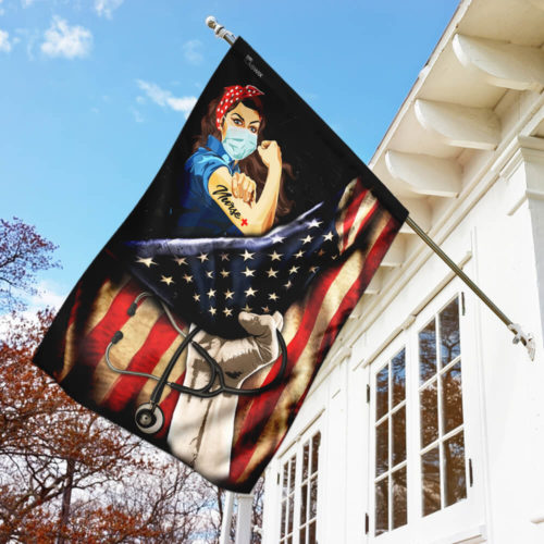 proud our nurse american flag all over print flag 5