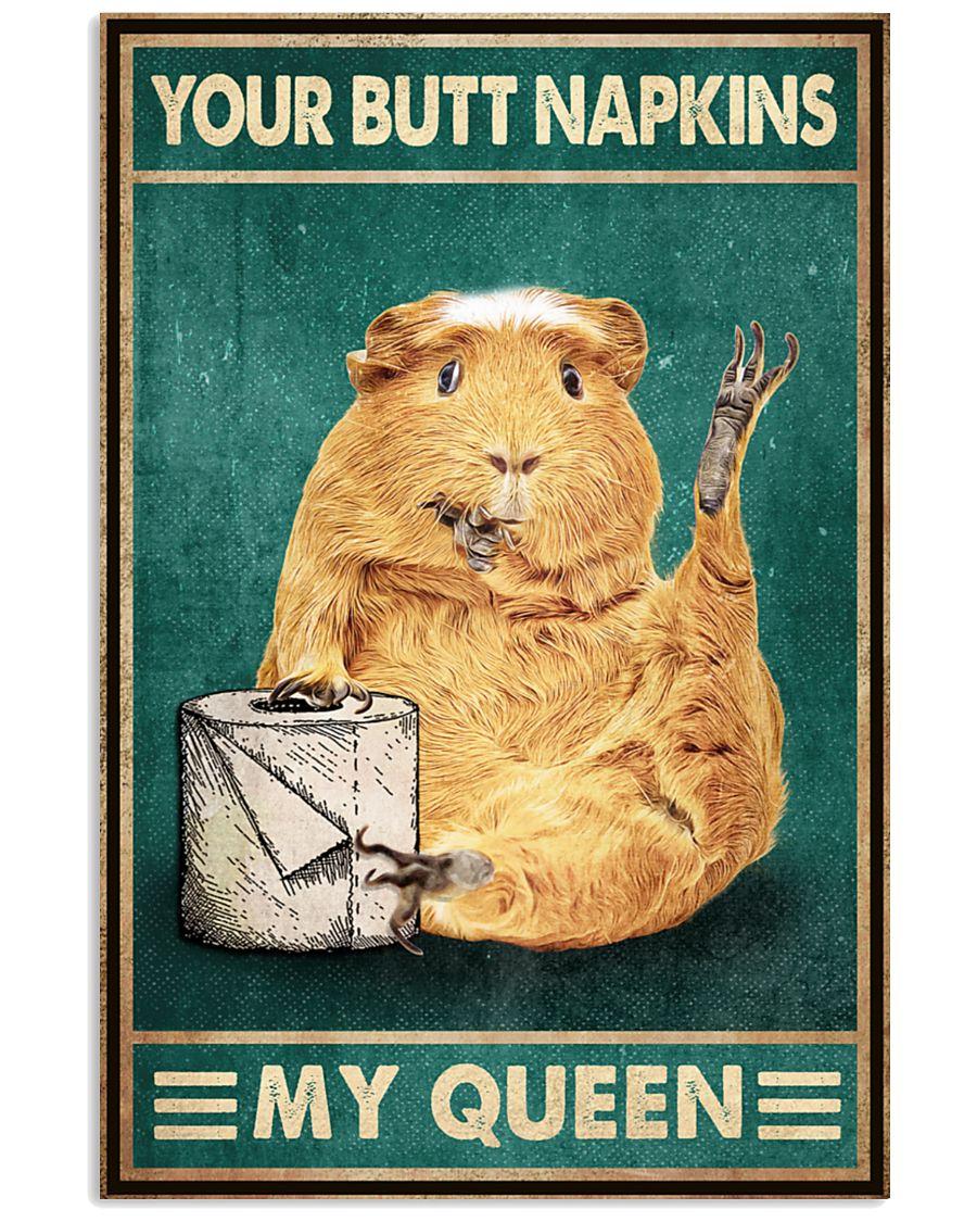 retro guinea pig your butt napkins my queen poster 2