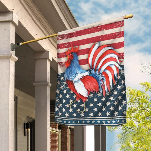 rooster american flag all over print flag 2