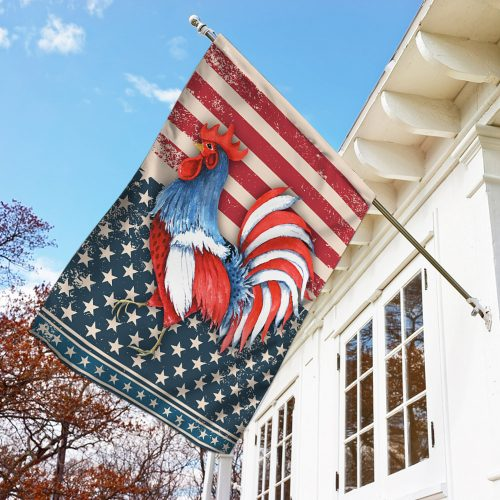 rooster american flag all over print flag 3