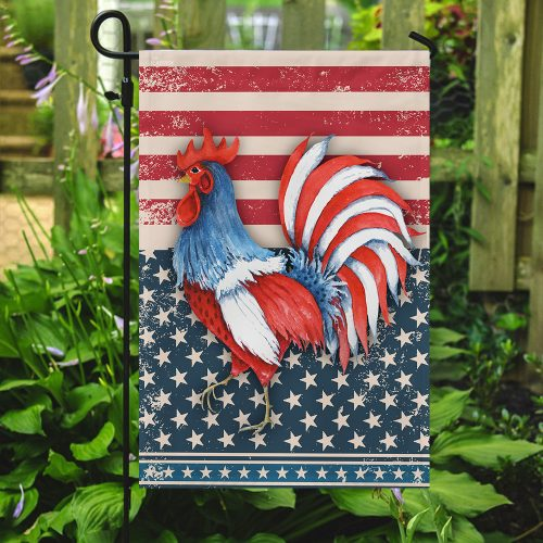rooster american flag all over print flag 5