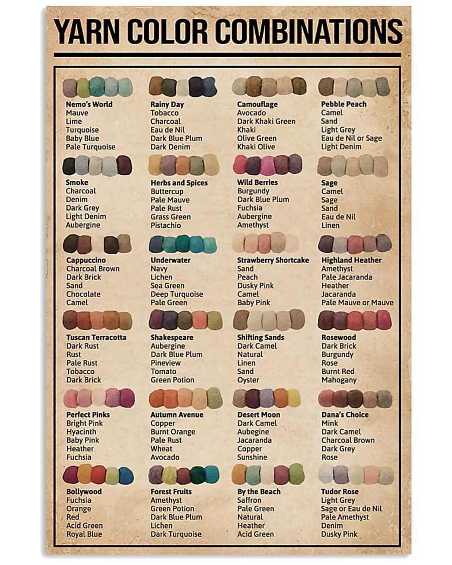 sewing yarn color combinations poster 2