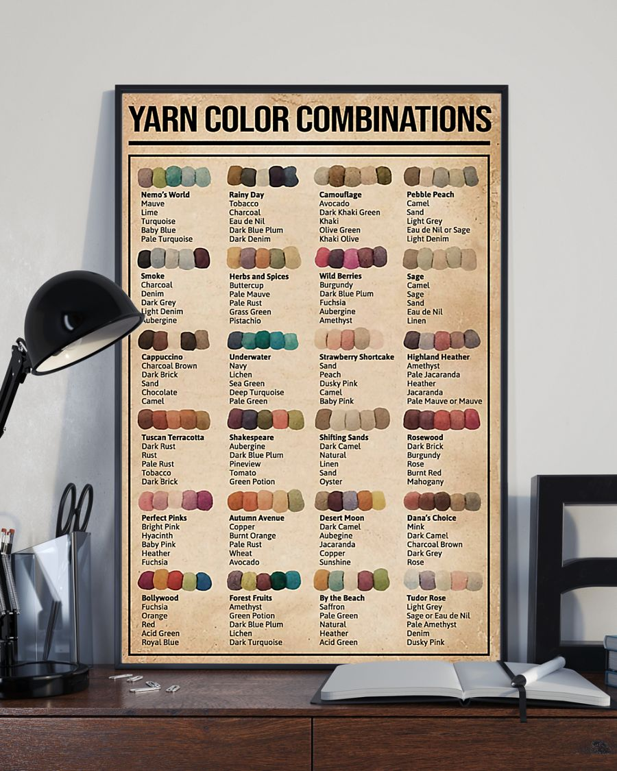sewing yarn color combinations poster 3