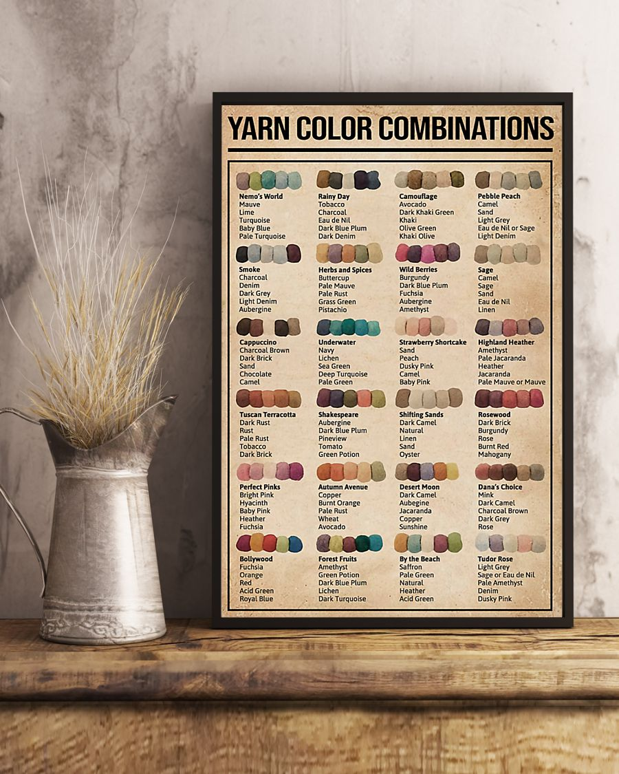 sewing yarn color combinations poster 4