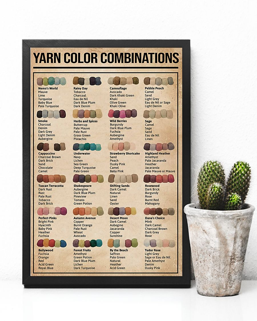 sewing yarn color combinations poster 5