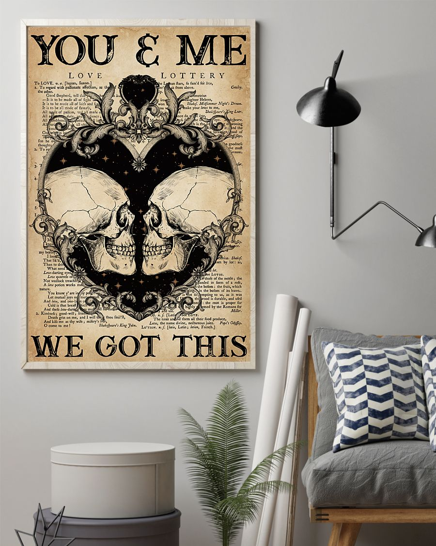 skull you and me we got this vintage poster 2