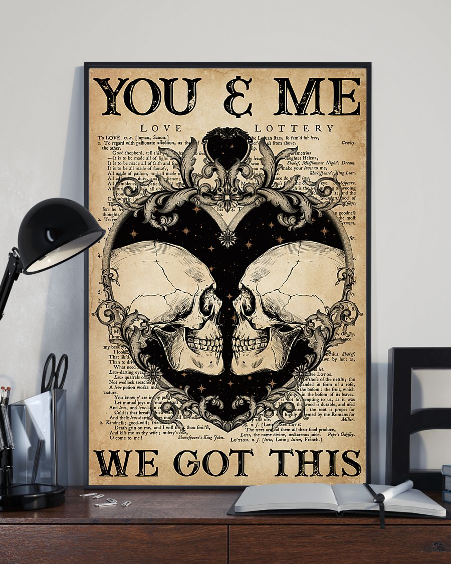 skull you and me we got this vintage poster 4