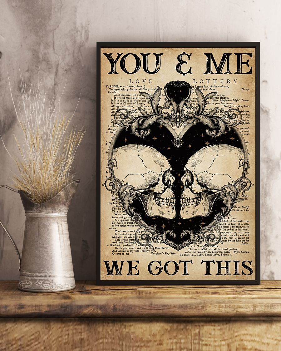 skull you and me we got this vintage poster 5