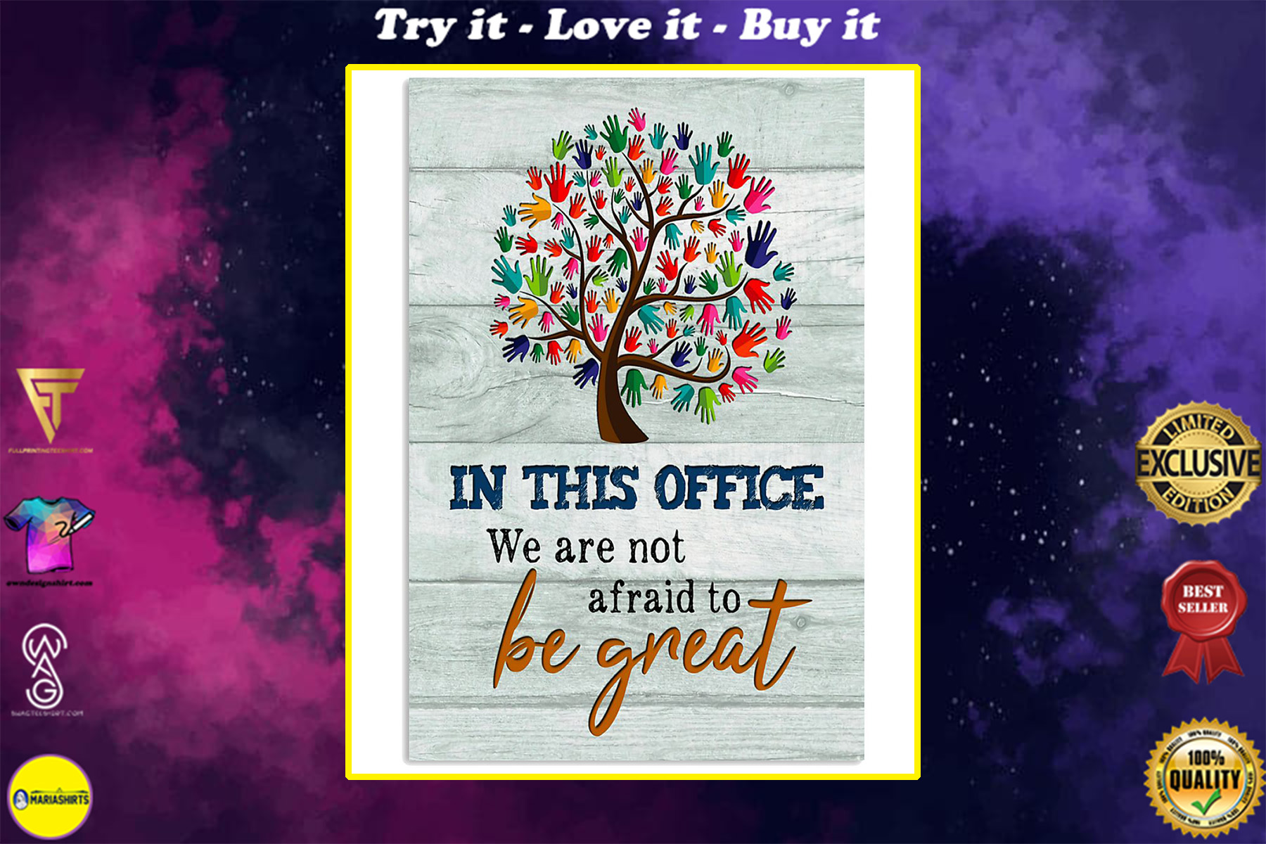 social worker in this office we are not afraid to be great poster