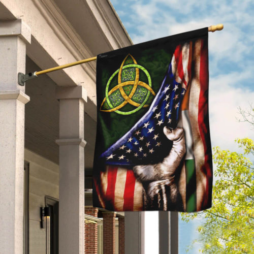 st patricks day celtic trinity american flag all over print flag 2