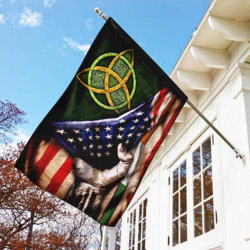 st patricks day celtic trinity american flag all over print flag 3