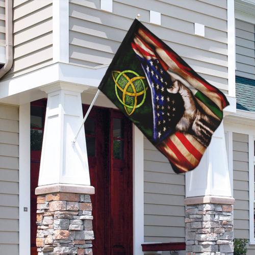 st patricks day celtic trinity american flag all over print flag 4