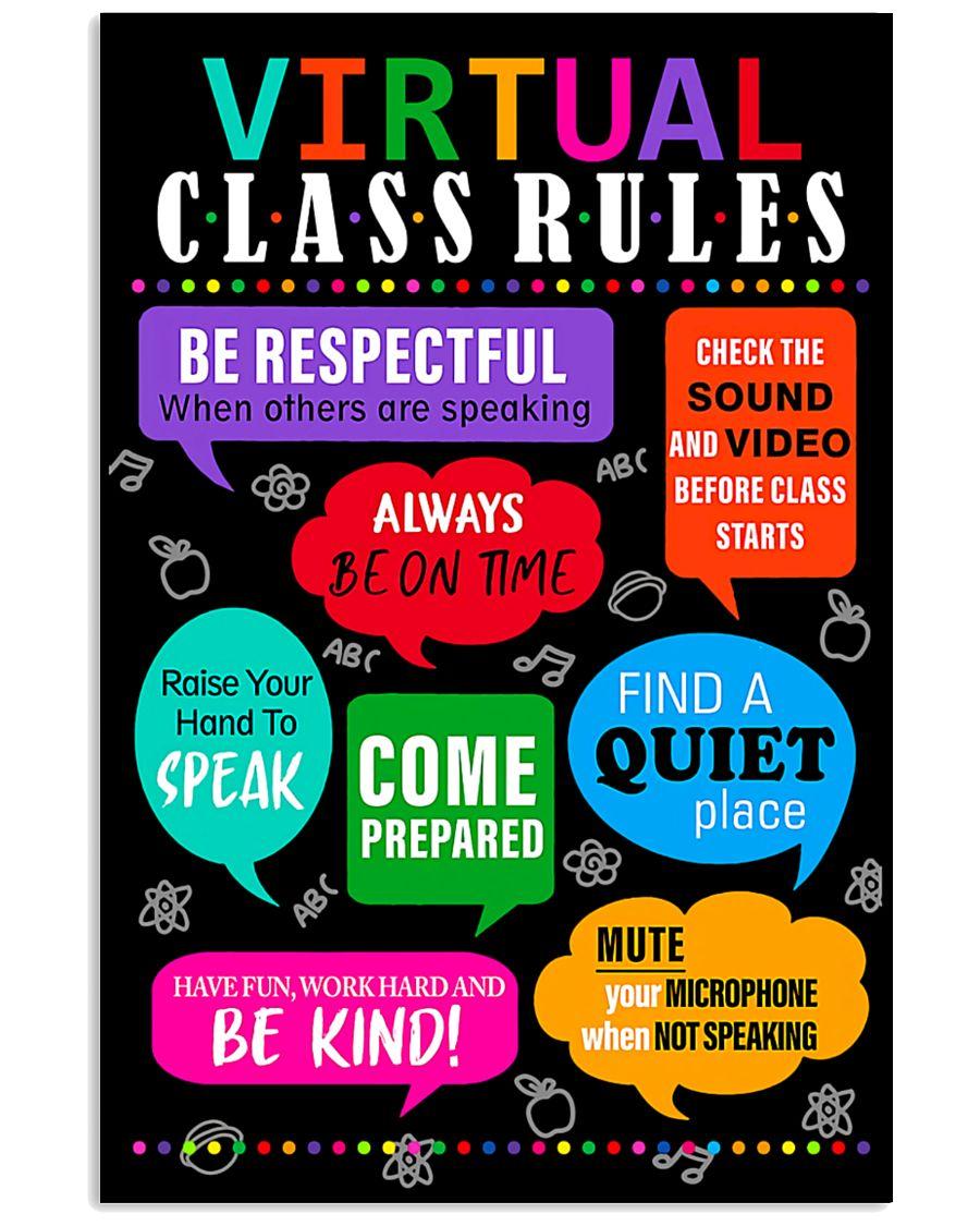 teacher virtual class rules back to school poster 2