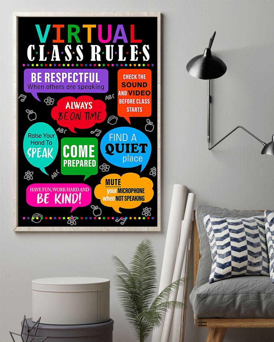 teacher virtual class rules back to school poster 3