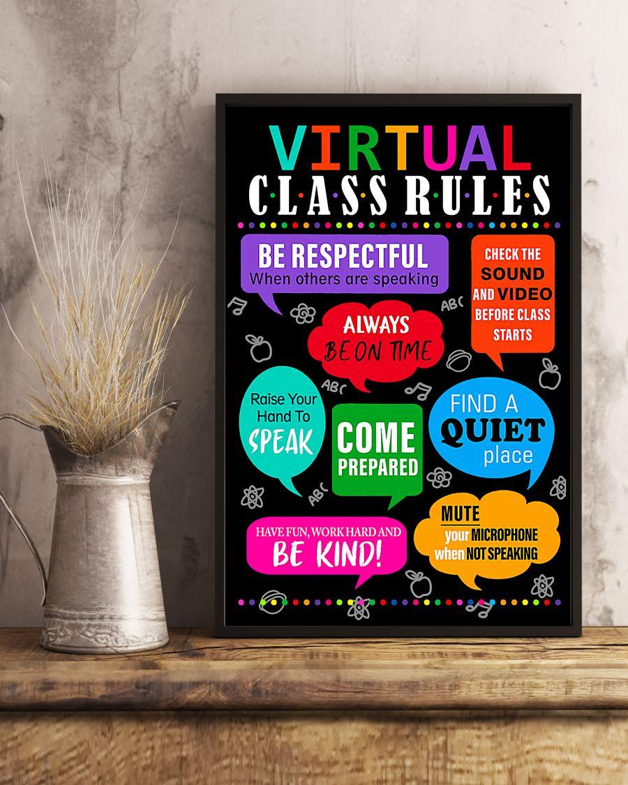teacher virtual class rules back to school poster 5