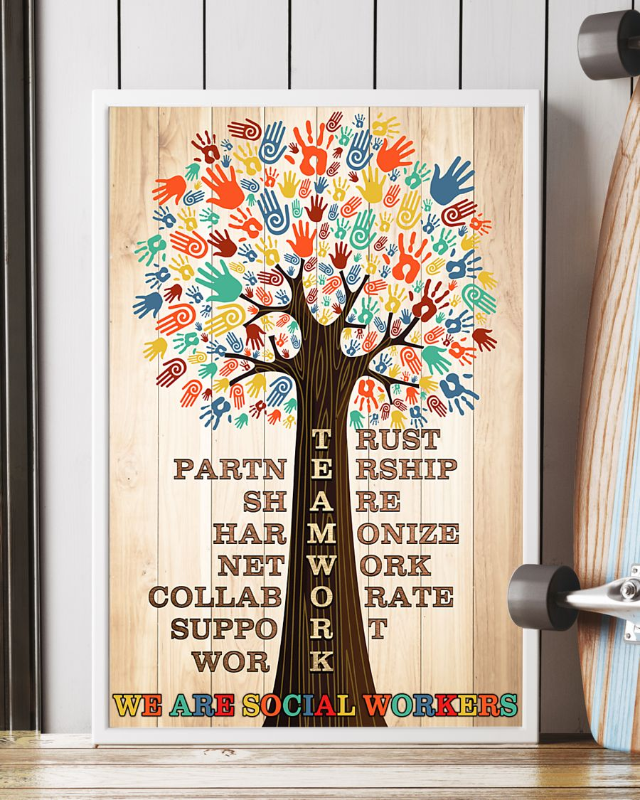 teamwork we are social worker poster 5