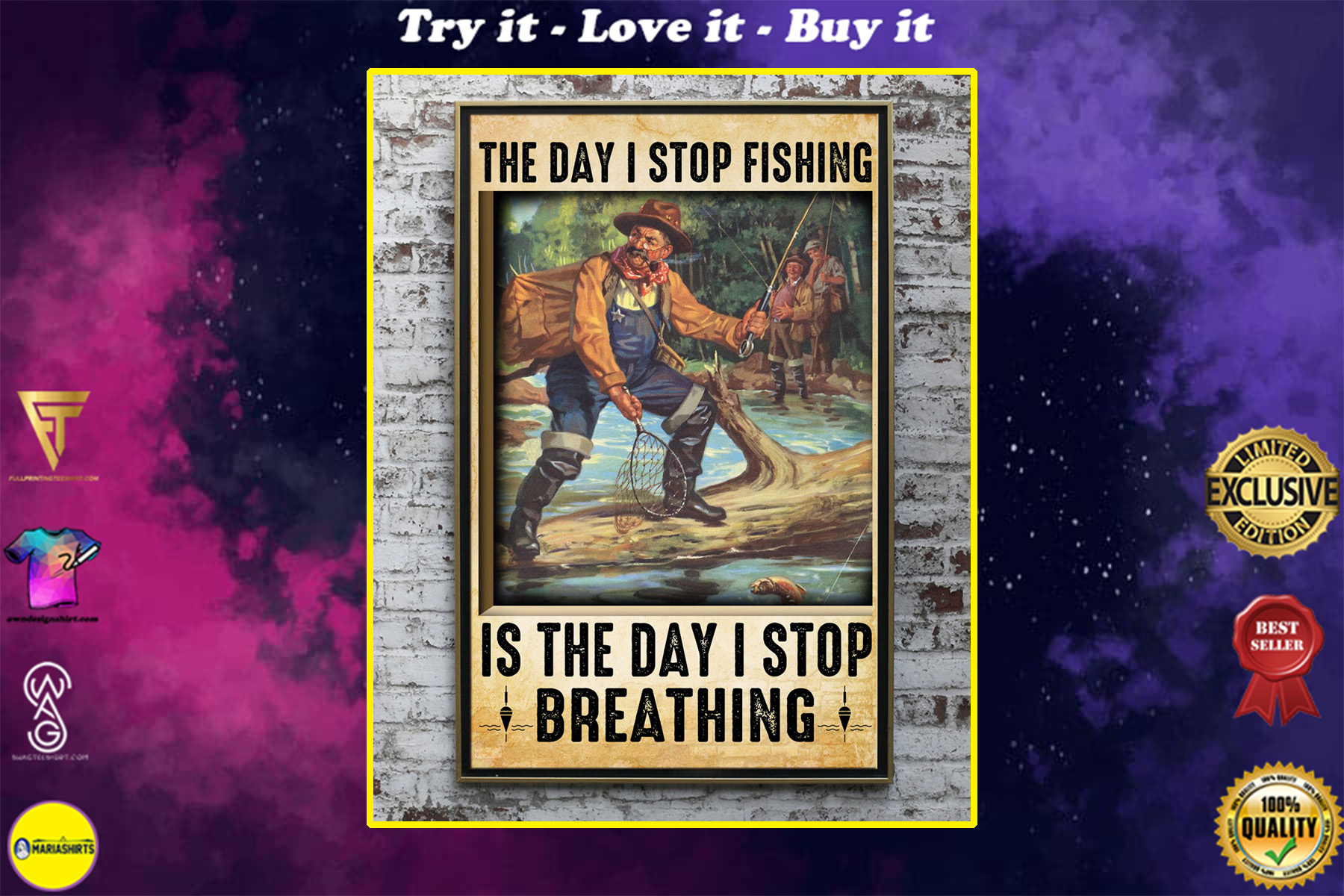 the day i stop fishing is the day i stop breathing old man poster