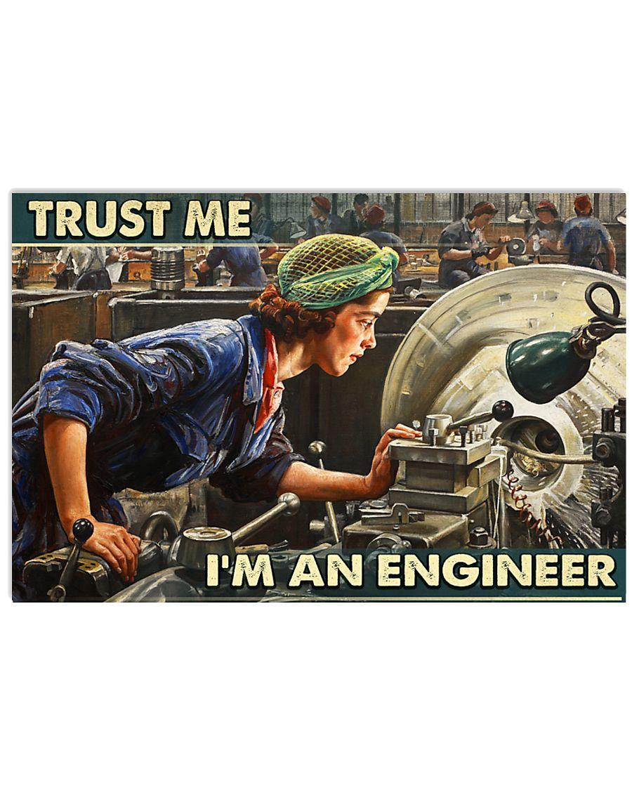 the girl trust me im an engineer wall art poster 2