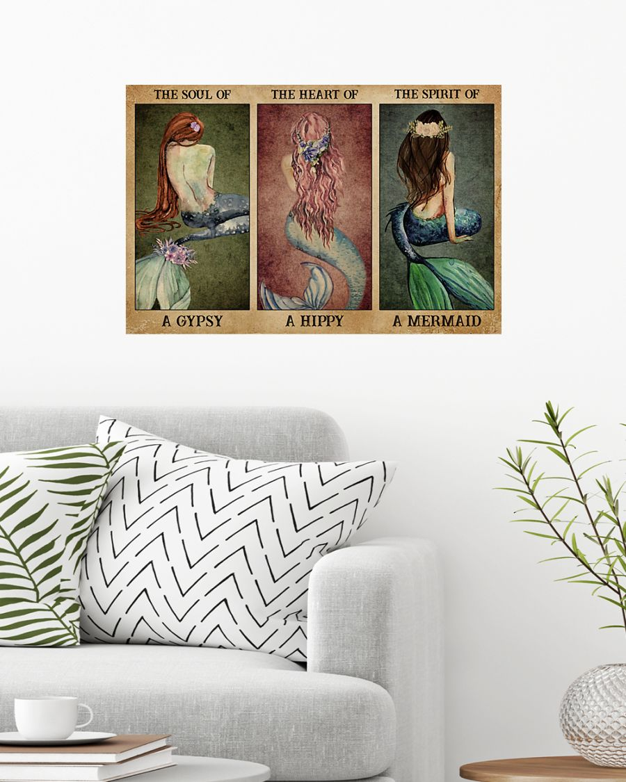 the soul of a gypsy the spirit of a mermaid vintage poster 2