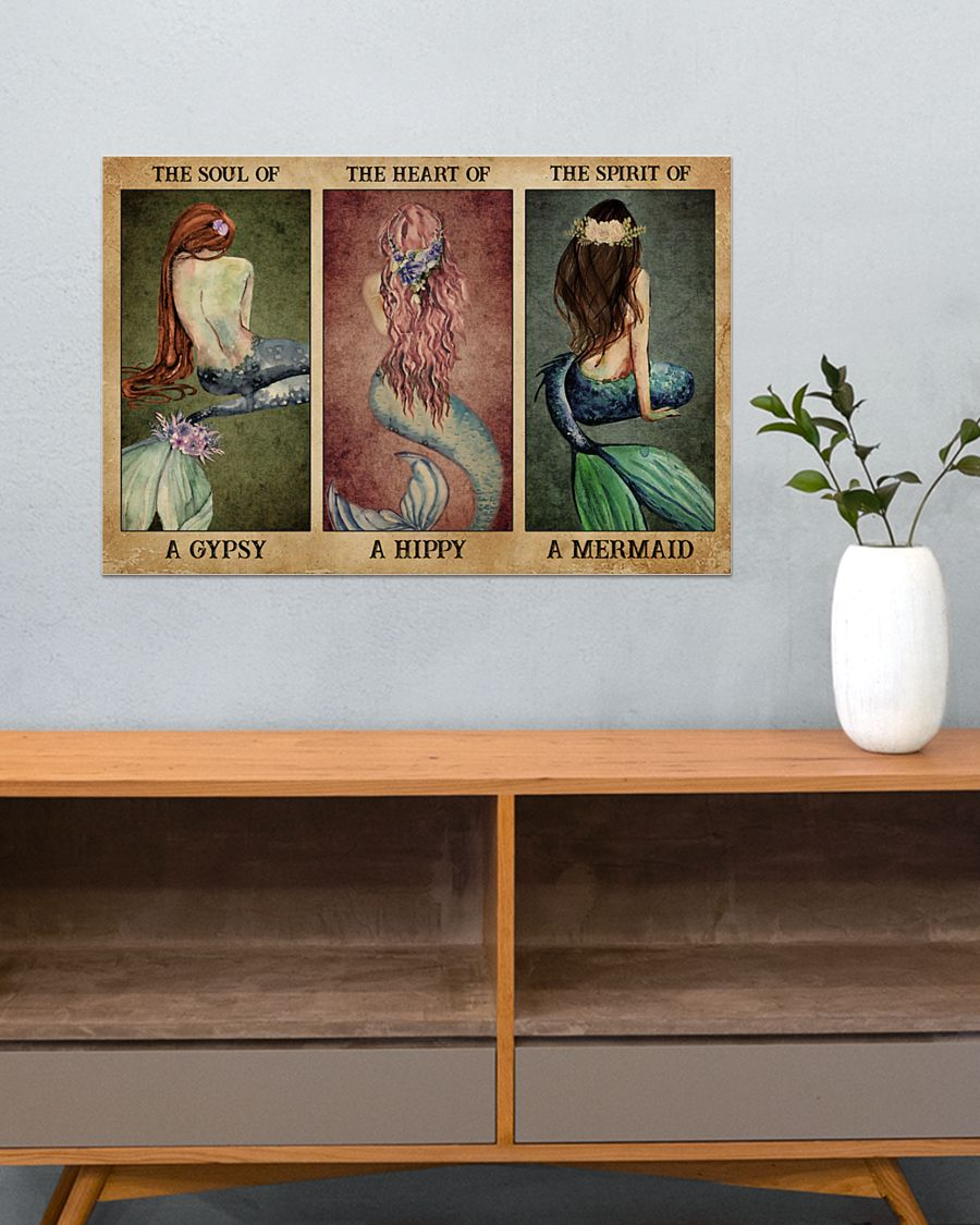 the soul of a gypsy the spirit of a mermaid vintage poster 5