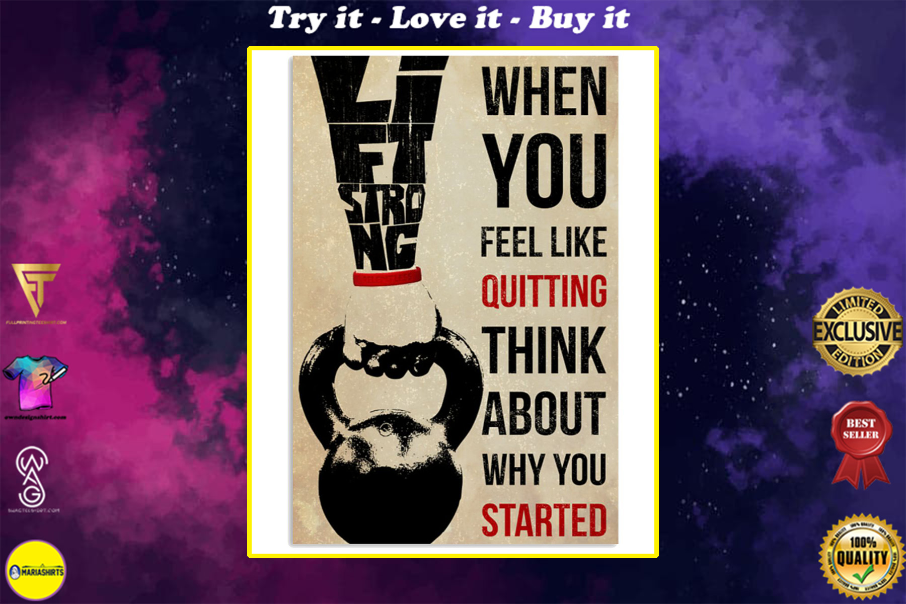 training when you feel like quitting think about why you started poster