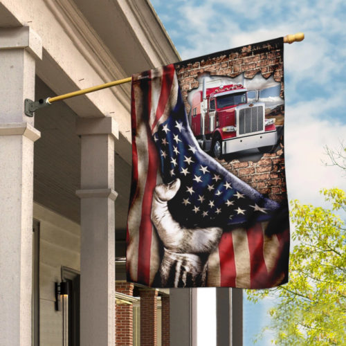 truck driver american flag all over print flag 2