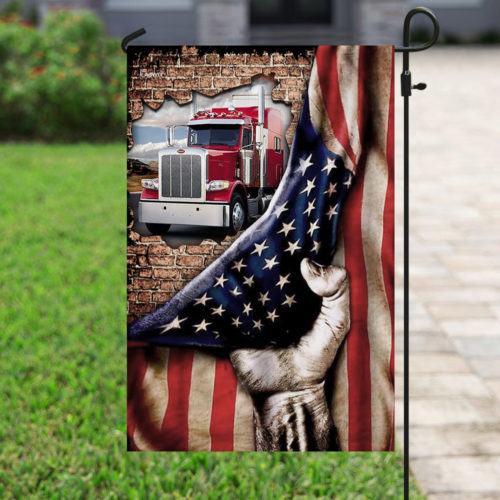 truck driver american flag all over print flag 4