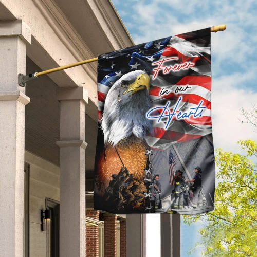 usa veteran forever in our hearts all over print flag 2