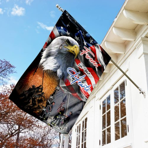 usa veteran forever in our hearts all over print flag 3