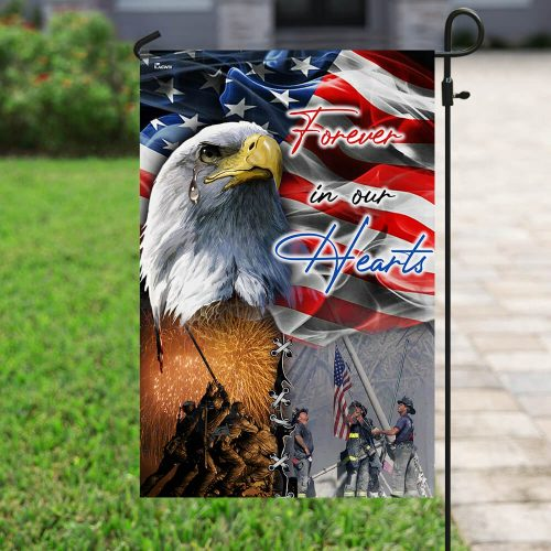 usa veteran forever in our hearts all over print flag 4