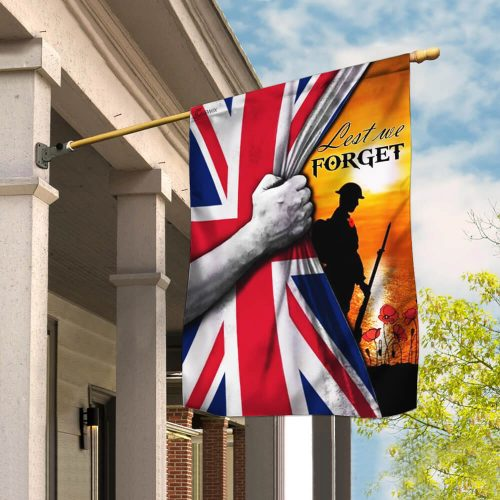 veteran lest we forget remembrance day all over printed flag 2
