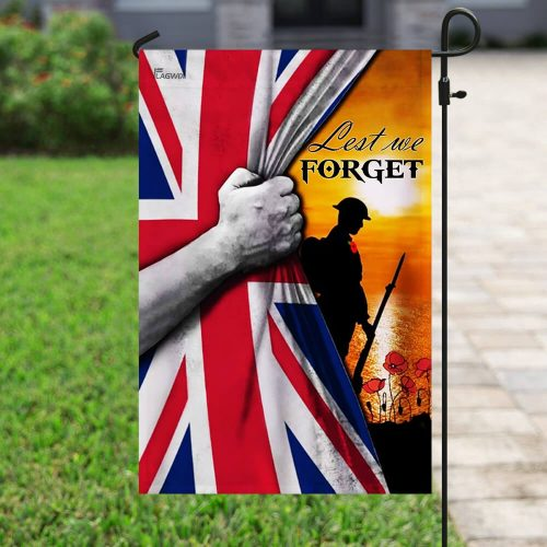veteran lest we forget remembrance day all over printed flag 4