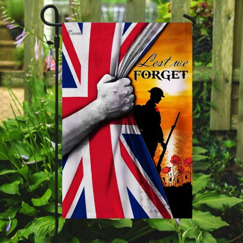 veteran lest we forget remembrance day all over printed flag 5