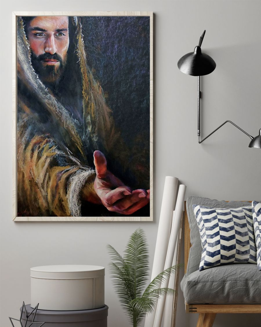 vintage Jesus give me your hand poster 3