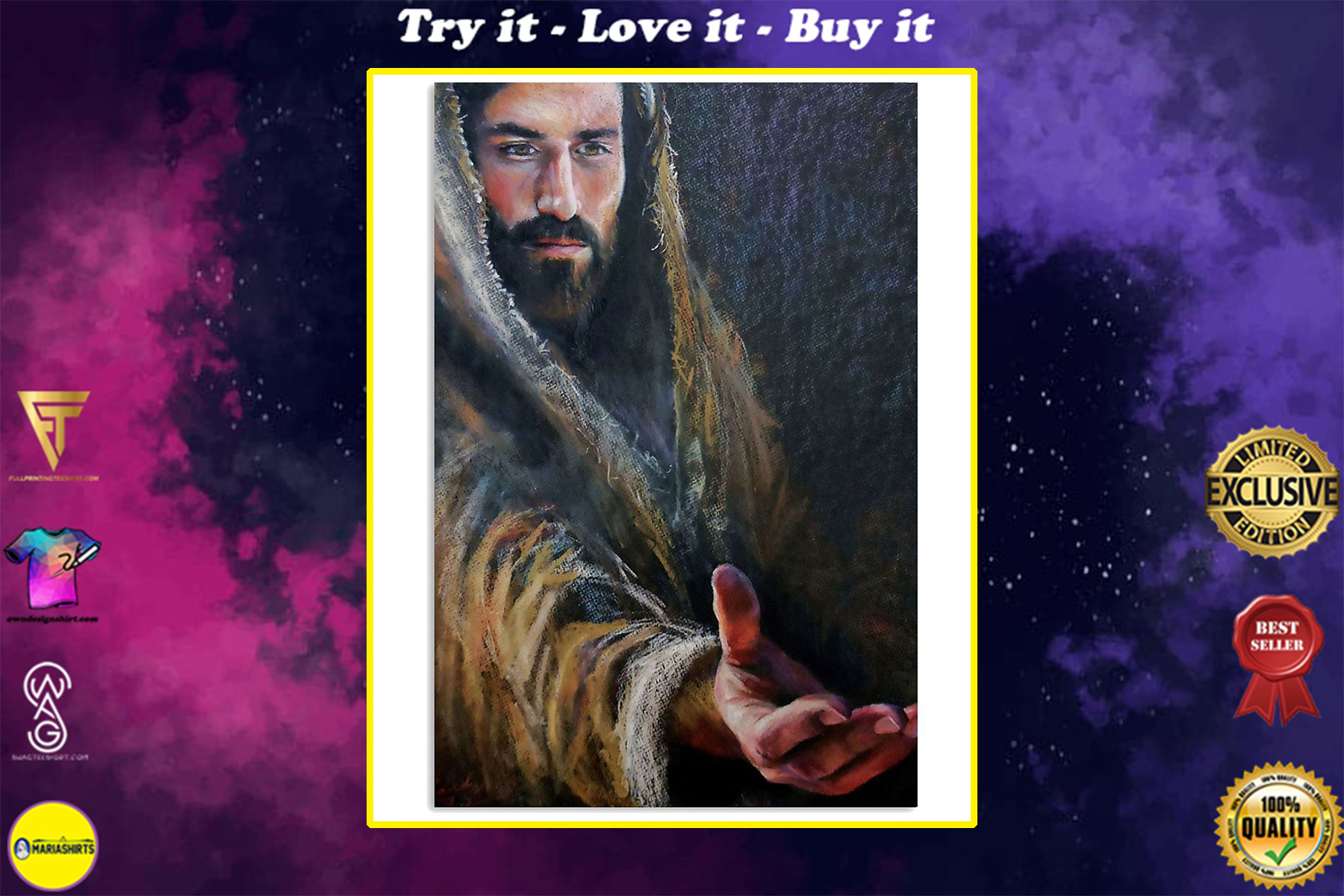 vintage Jesus give me your hand poster