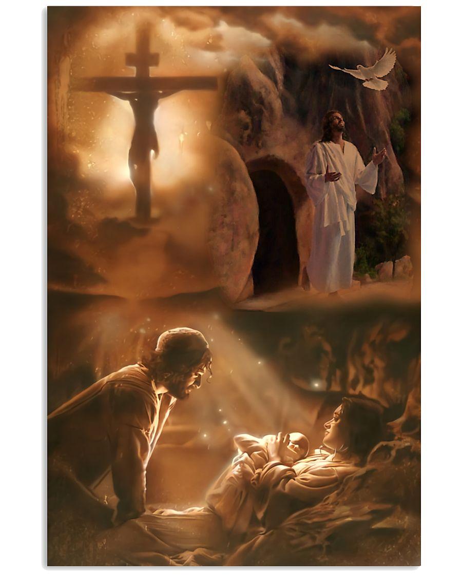 vintage Jesus he loves you poster 2