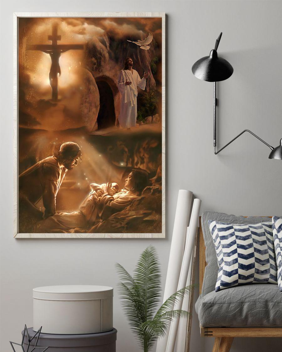 vintage Jesus he loves you poster 3