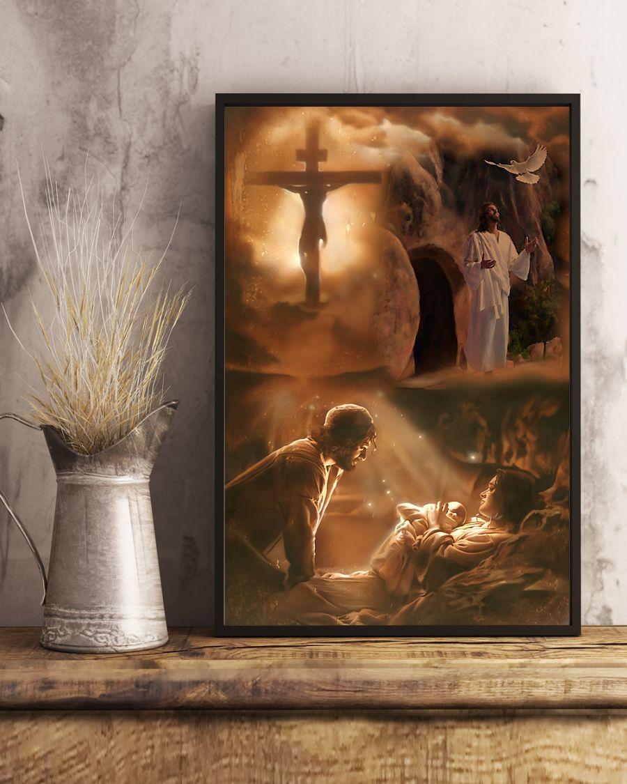 vintage Jesus he loves you poster 5