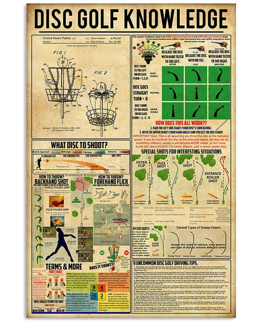 vintage disc golf knowledge poster 2