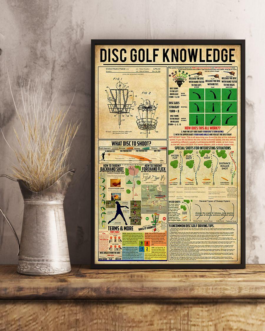 vintage disc golf knowledge poster 3