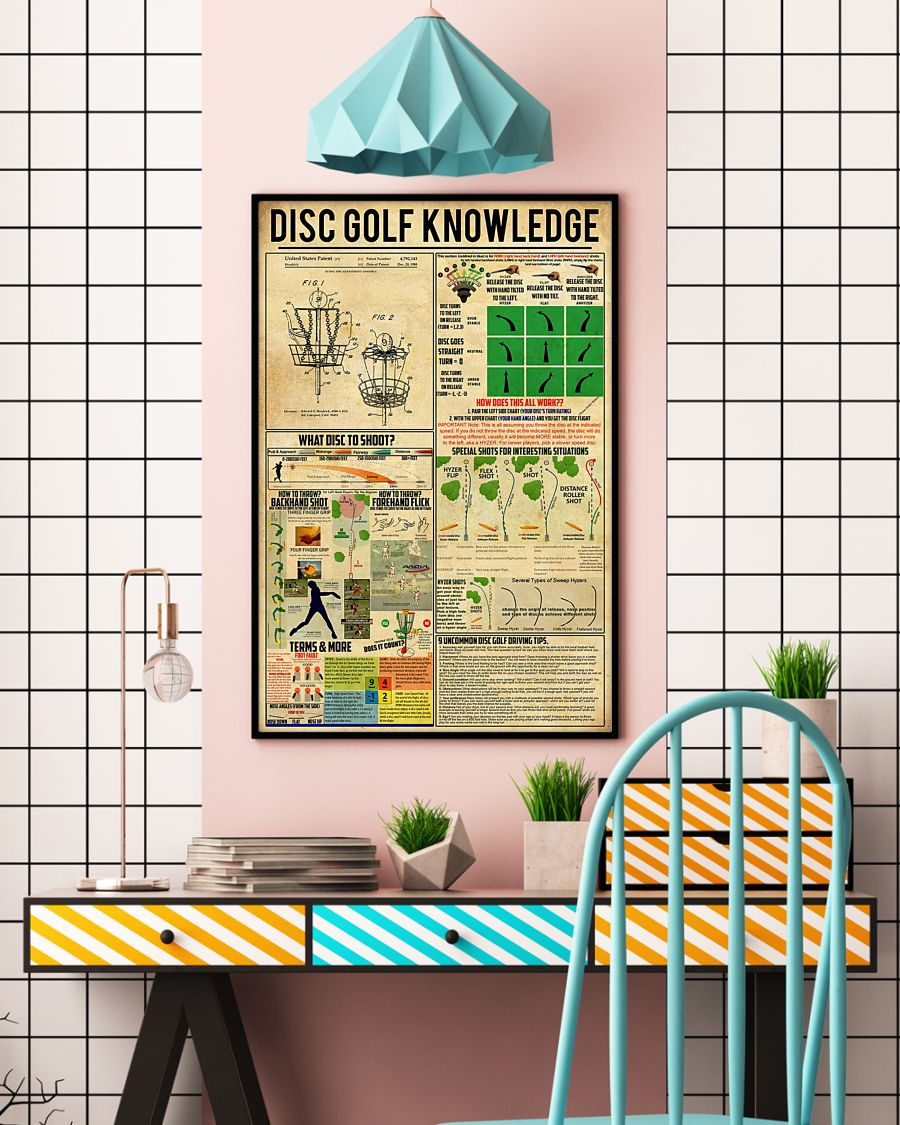 vintage disc golf knowledge poster 4