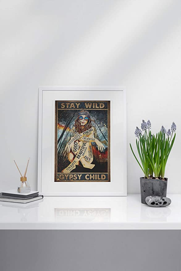 vintage girl stay wild gypsy child poster 2