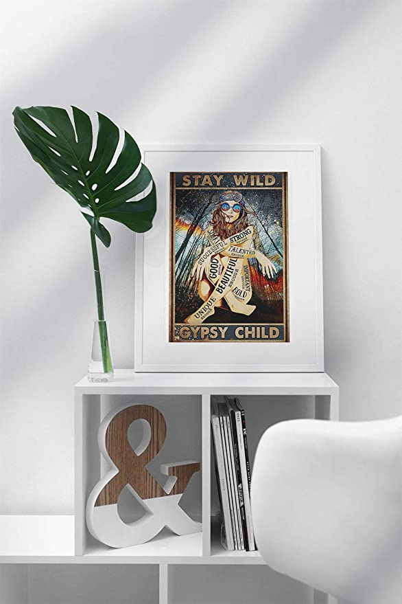 vintage girl stay wild gypsy child poster 5