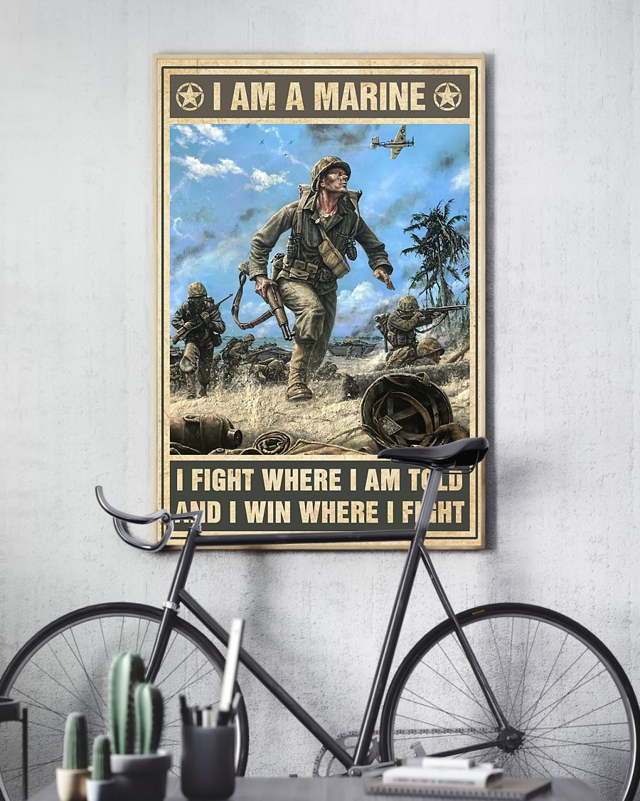 vintage i am a marine i fight where i am told and i win where i fight poster 4