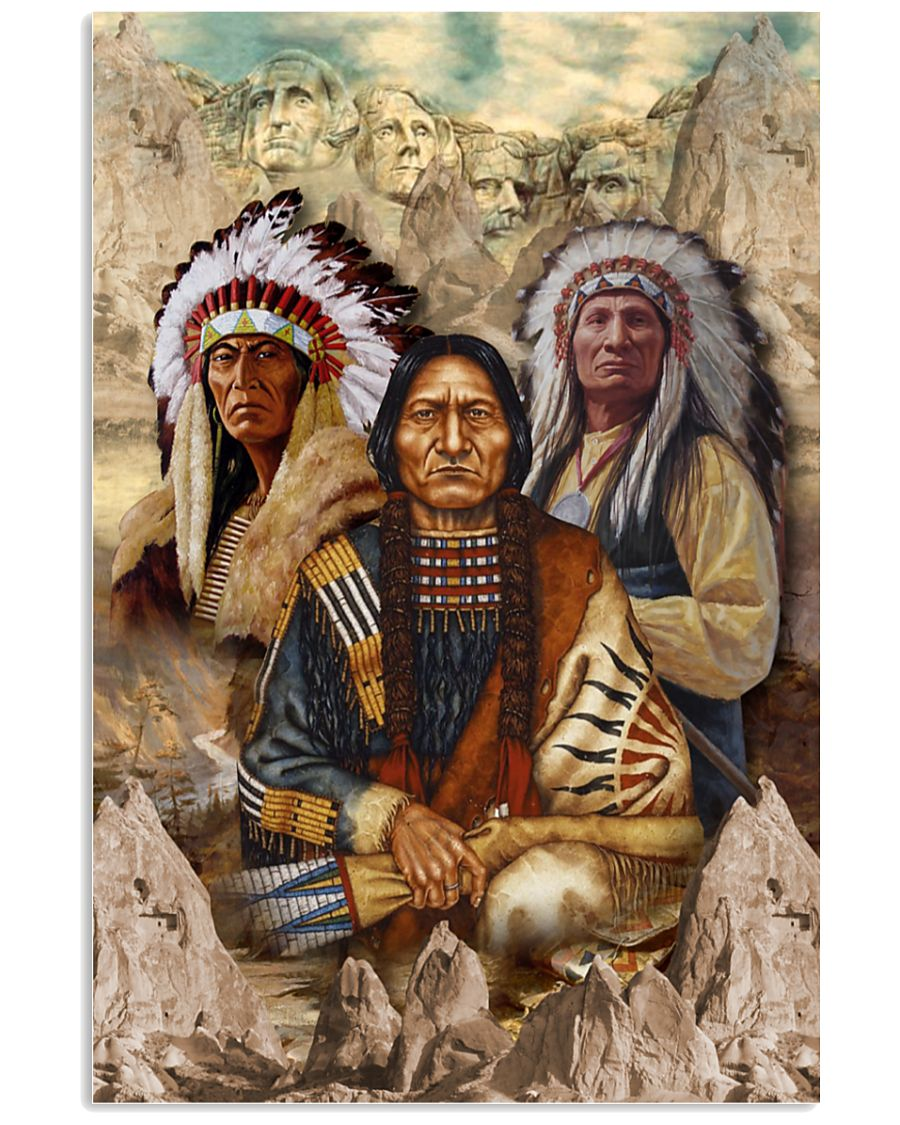 vintage indigenous man native american poster 5