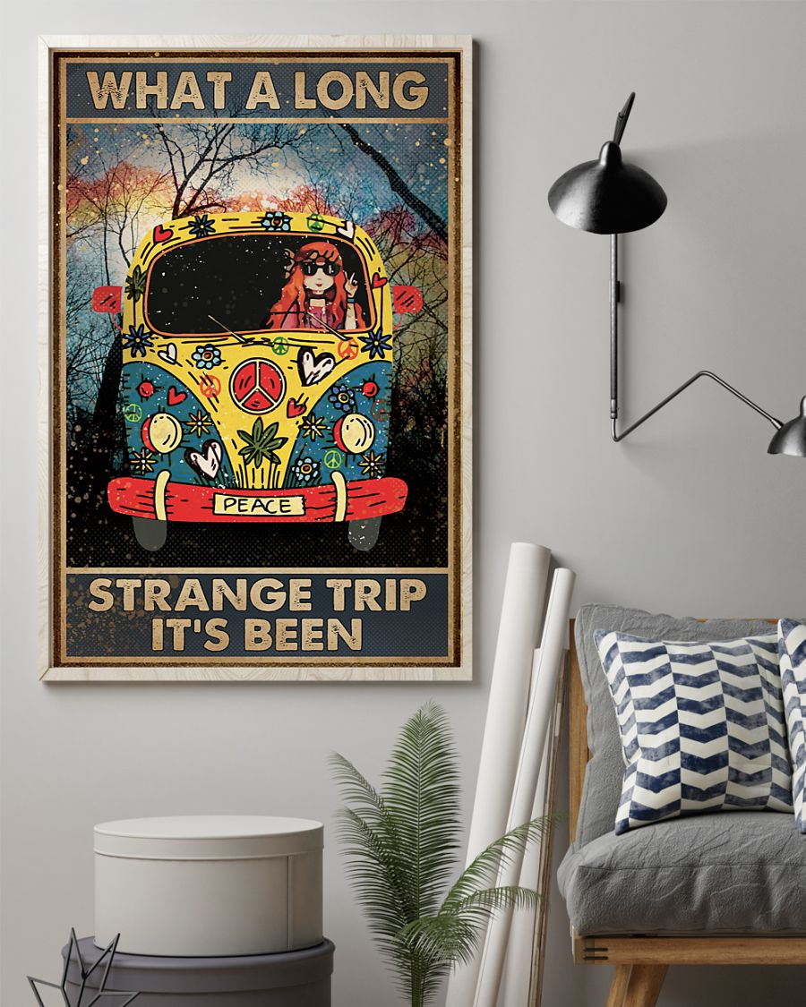 what a long strange trip its been hippie vintage poster 2