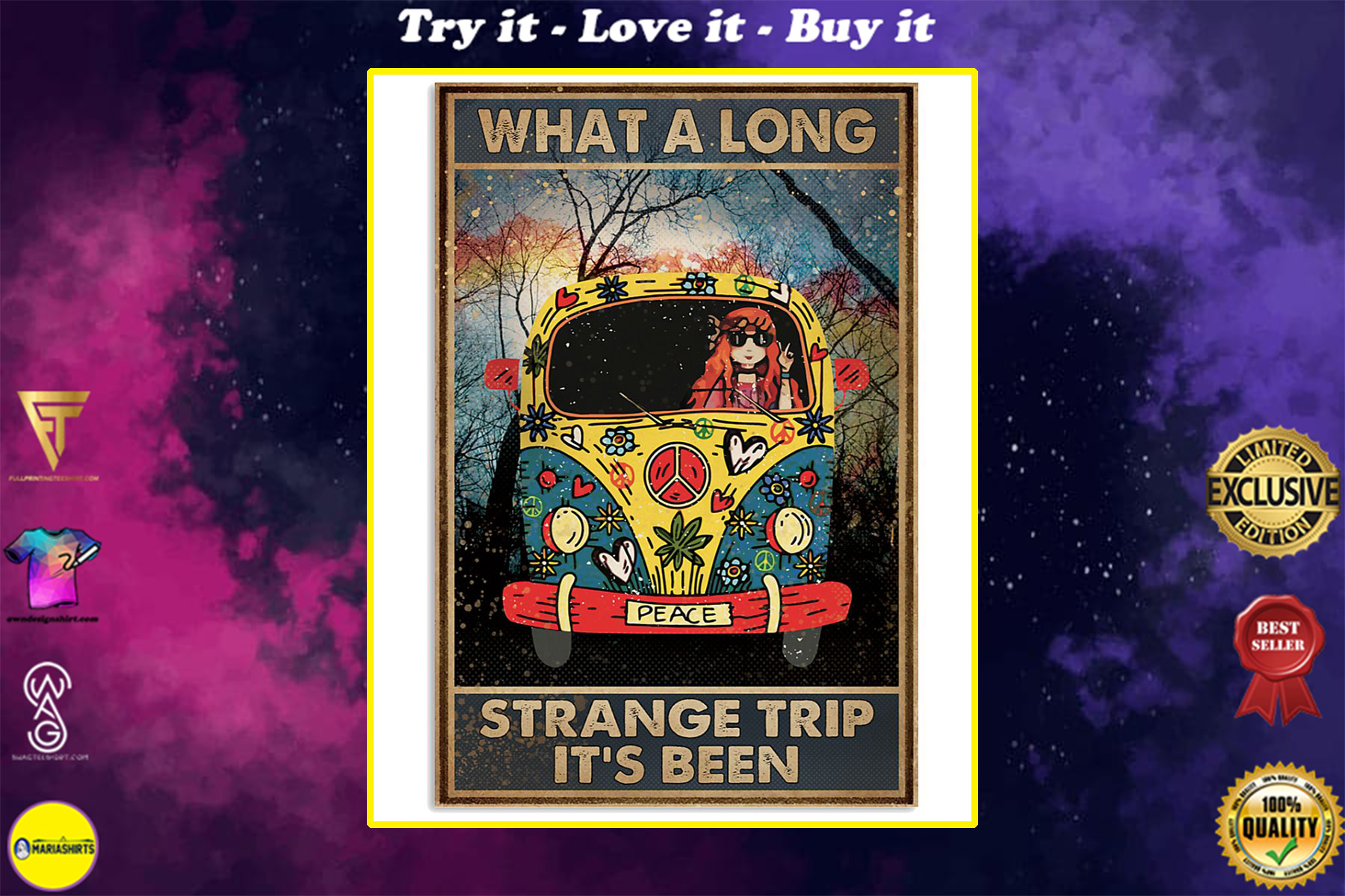 what a long strange trip its been hippie vintage poster