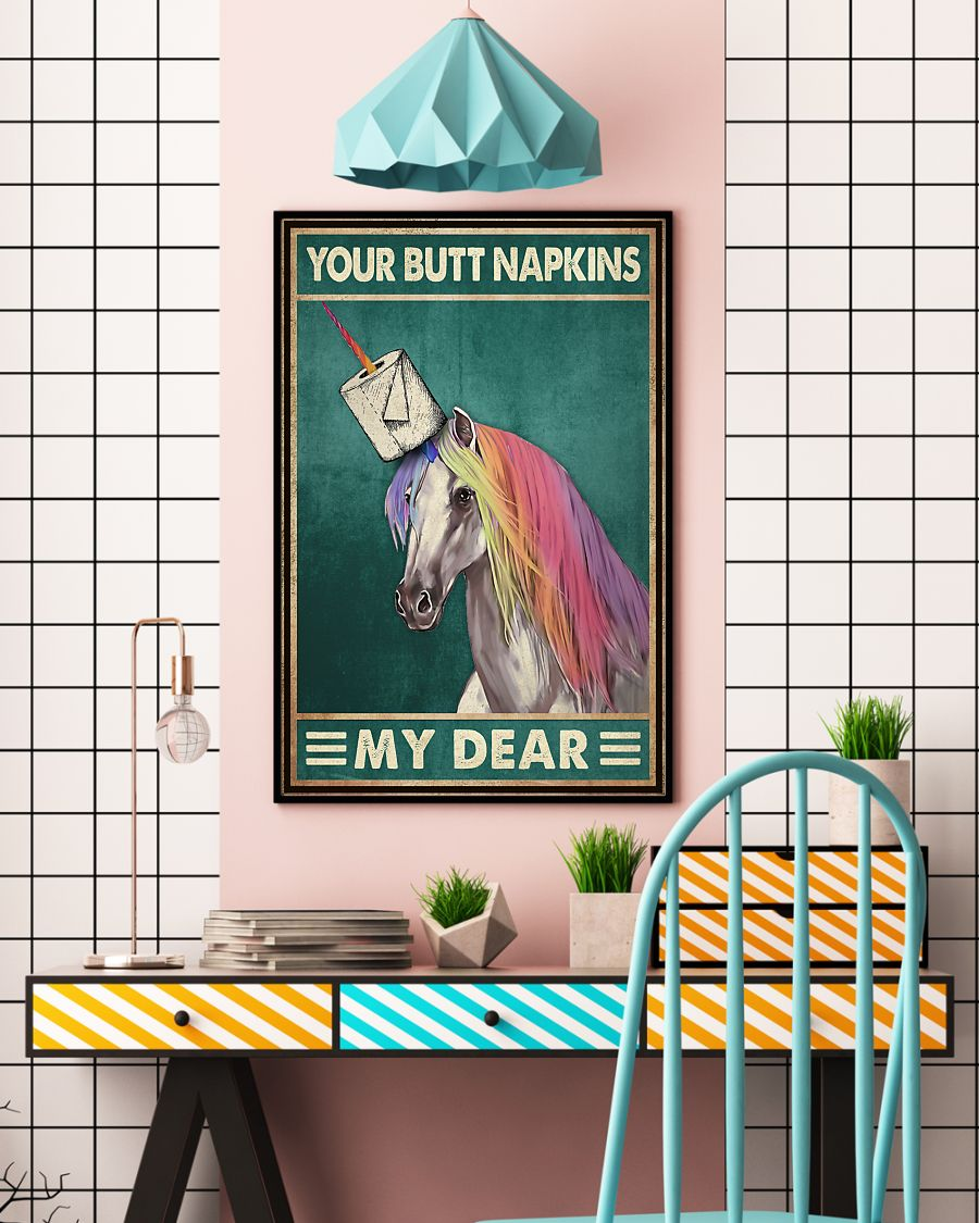your butt napkins my dear unicorn toilet paper poster 5